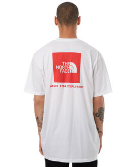 WHITE MENS CLOTHING THE NORTH FACE TEES - NF00CA0FRGX