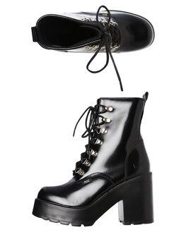 BLACK HI-SHINE WOMENS FOOTWEAR ROC BOOTS AUSTRALIA BOOTS - MISSION_BLK
