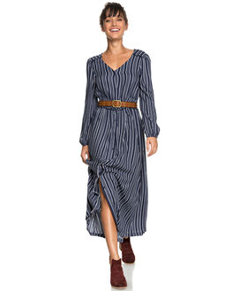 DRESS BLUES STRIPES WOMENS CLOTHING ROXY DRESSES - ERJWD03259BTK3