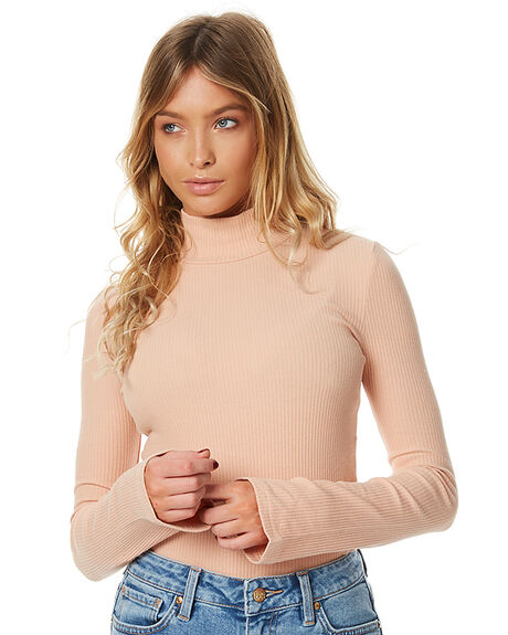 PEACH WOMENS CLOTHING AFENDS KNITS + CARDIGANS - 50-09-027PCH
