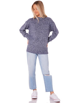 NAVY WOMENS CLOTHING ELEMENT KNITS + CARDIGANS - 273425NVY
