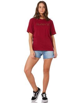NOBLE RED WOMENS CLOTHING HURLEY TEES - AH3358-620