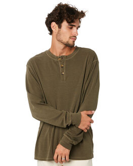 DARK OLIVE MENS CLOTHING THRILLS TEES - TA20-133FDKOLV