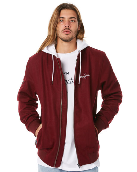 MAROON MENS CLOTHING RPM JACKETS - 8WMT19AMRN