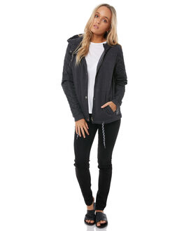 ANTHRACITE WOMENS CLOTHING ROXY JACKETS - ERJFT03681KVJ0