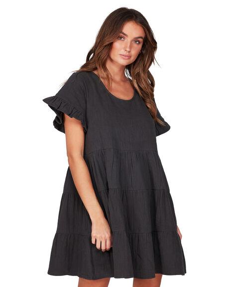 BLACK WOMENS CLOTHING BILLABONG DRESSES - BB-6507474-BLK