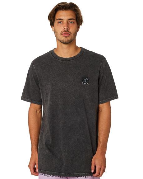 BLACK ACID MENS CLOTHING RVCA TEES - R193057BBLKAC