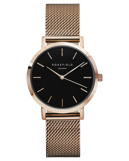 BLACK ROSE GOLD WOMENS ACCESSORIES ROSEFIELD WATCHES - TBR-T59BLKRS