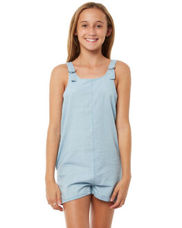 LIGHT BLUE KIDS GIRLS RIP CURL PLAYSUITS + OVERALLS - JDRBB11080