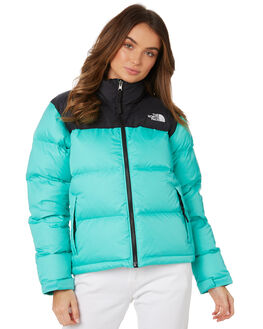 RETRO GREEN WOMENS CLOTHING THE NORTH FACE JACKETS - NF0A3JQRN0Q