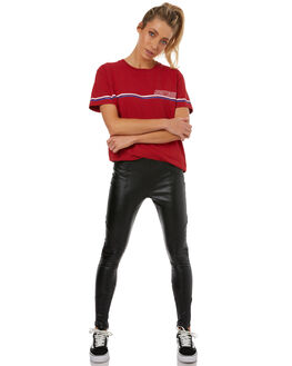 BLACK WOMENS CLOTHING RUSTY PANTS - PAL1032BLK