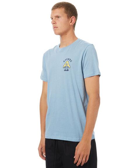 DUSK BLUE MENS CLOTHING AFENDS TEES - 01-01-327DBLU