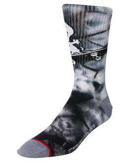 BLACK MENS CLOTHING HUF SOCKS + UNDERWEAR - SK00330-BLACK
