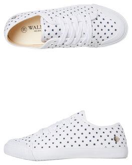WHITE NAVY STAR WOMENS FOOTWEAR WALNUT SNEAKERS - EMPIREWNS
