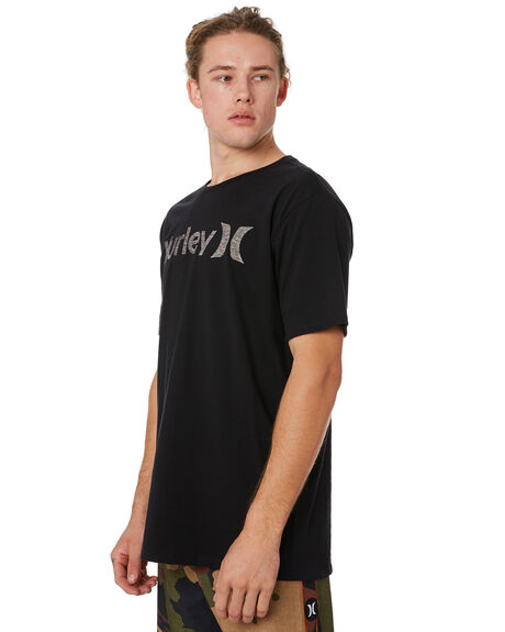 BLACK WHITE MENS CLOTHING HURLEY TEES - 892205013
