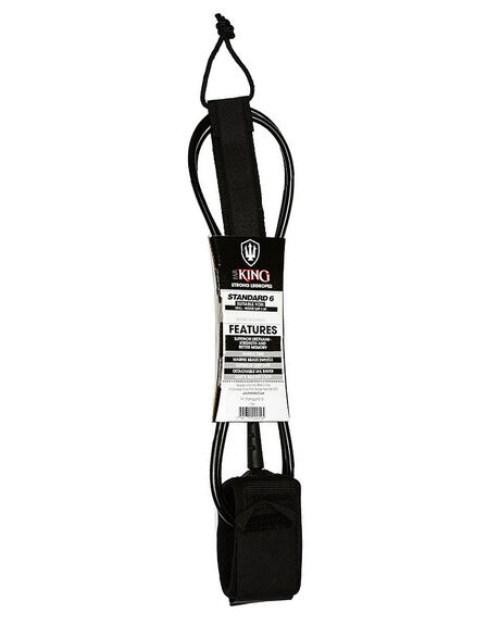 BLACK BOARDSPORTS SURF FAR KING LEASHES - 1286BLK