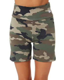 GREEN CAMO WOMENS CLOTHING STUSSY SHORTS - ST195616CAMO