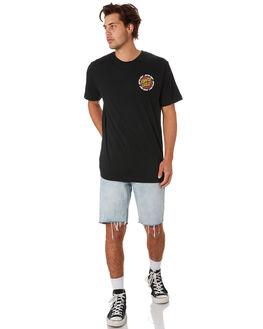 BLACK MENS CLOTHING SANTA CRUZ TEES - SC-MTC9340BLK