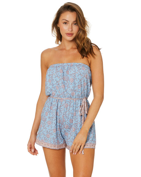 DUSTY BLUE WOMENS CLOTHING TIGERLILY PLAYSUITS + OVERALLS - T615512U01