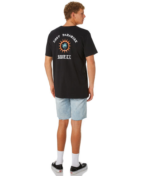 BLACK MENS CLOTHING SWELL TEES - S5201013BLACK