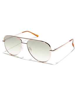 ROSE GOLD GREEN WOMENS ACCESSORIES QUAY EYEWEAR SUNGLASSES - QC-000268RSEGR