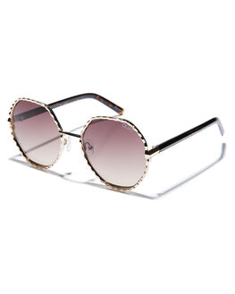 GOLD BROWN WOMENS ACCESSORIES QUAY EYEWEAR SUNGLASSES - QW-000378GLD