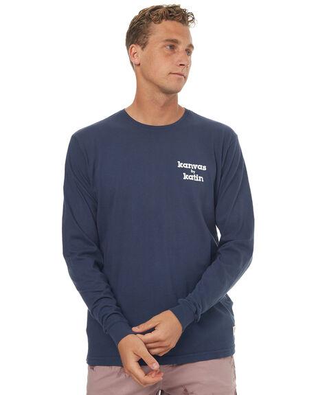 NAVY MENS CLOTHING KATIN TEES - KNSSKMALS17NVY