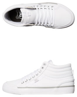WHITE SILVER WOMENS FOOTWEAR DC SHOES SNEAKERS - ADJS300147WS4