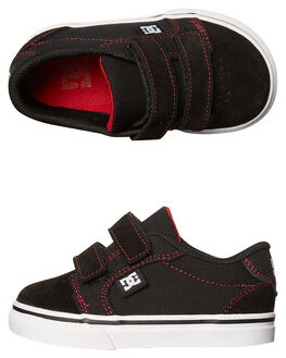 BLACK RED KIDS TODDLER BOYS DC SHOES FOOTWEAR - ADTS300005XKRW