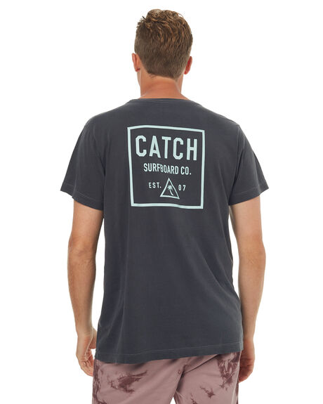 BLACK MENS CLOTHING CATCH SURF TEES - A6TEE040BLK