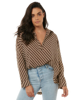 CANYON STRIPE WOMENS CLOTHING ZULU AND ZEPHYR FASHION TOPS - ZZ1815CAN