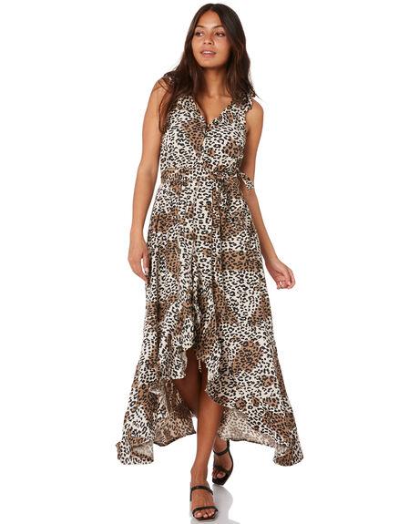 LEOPARD WOMENS CLOTHING O'NEILL DRESSES - 6321602LEP