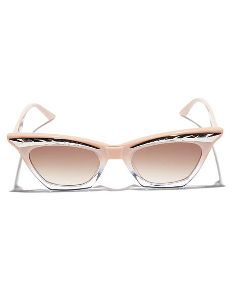 DUSTY PINK CLEAR WOMENS ACCESSORIES VALLEY SUNGLASSES - S0426DPNK