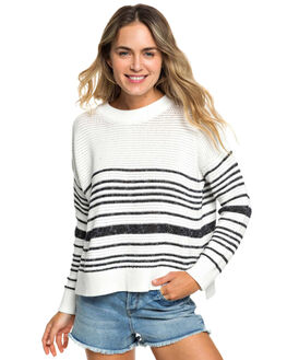 HORIZONTAL STRIPE WOMENS CLOTHING ROXY KNITS + CARDIGANS - ERJSW03315-XWKK