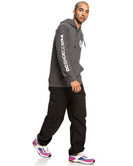 HEATHER CHARCOAL MENS CLOTHING DC SHOES JUMPERS - EDYSF03194-KNYH