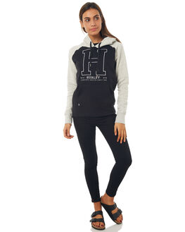 BLACK WOMENS CLOTHING HURLEY JUMPERS - AGFLTH800A