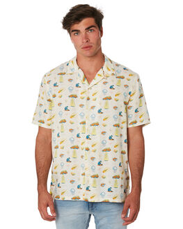 DUSTY WHITE MENS CLOTHING NUDIE JEANS CO SHIRTS - 140596W41