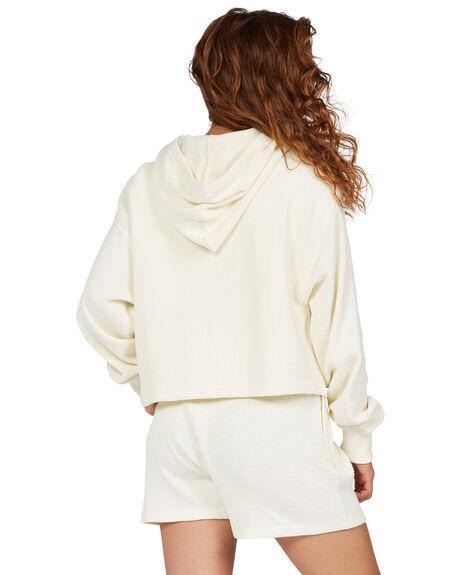 ANTIQUE WHITE WOMENS CLOTHING DC SHOES HOODIES + SWEATS - ADJKT03008-WCL0