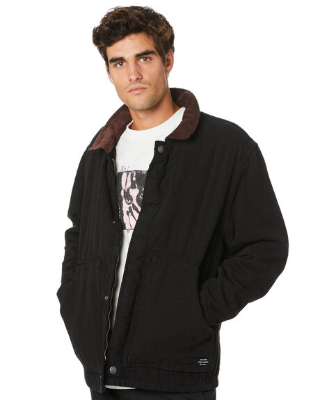 BLACK MENS CLOTHING THRILLS JACKETS - TW20-214BBLK
