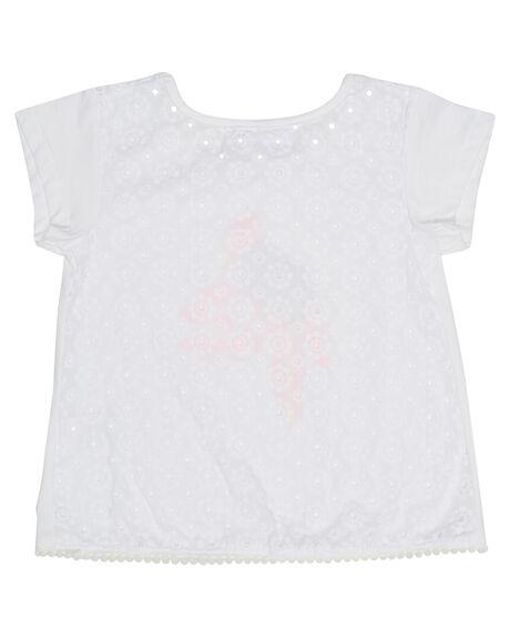 WHITE KIDS GIRLS EVES SISTER TOPS - 8021061WHT