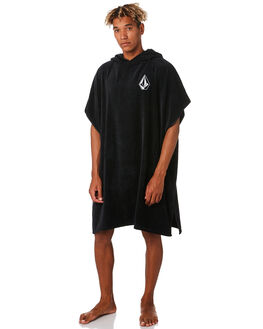 BLACK MENS ACCESSORIES VOLCOM TOWELS - D6701909BLK