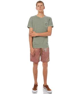 DUSTED OLIVE MENS CLOTHING RHYTHM TEES - OCT17M-PT02-OLI