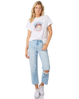 WHITE WOMENS CLOTHING SWELL TEES - S8201003WHI
