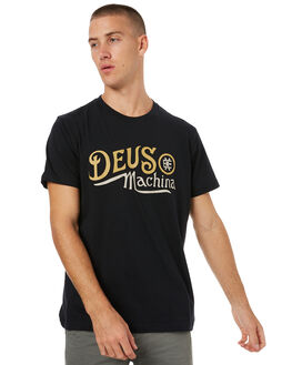 BLACK MENS CLOTHING DEUS EX MACHINA TEES - DMS71919ABLK