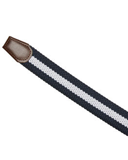 NAVY WHITE MENS ACCESSORIES ACADEMY BRAND BELTS - 19W03NVYWH