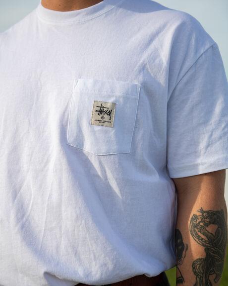 WHITE MENS CLOTHING STUSSY TEES - ST005002WHT