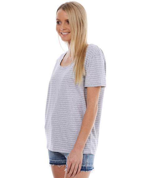 GREY STRIPE WOMENS CLOTHING SWELL TEES - S8174004GSTR