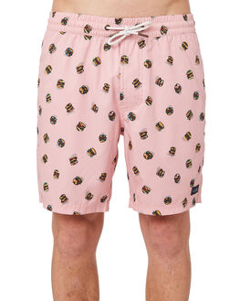 PINK BURGERS MENS CLOTHING BARNEY COOLS BOARDSHORTS - 803-CR4PNKBU