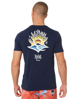 NAVY MENS CLOTHING RIP CURL TEES - CTEJM90049