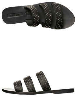 BLACK STUD WOMENS FOOTWEAR SOL SANA FASHION SANDALS - SS172S397BLK